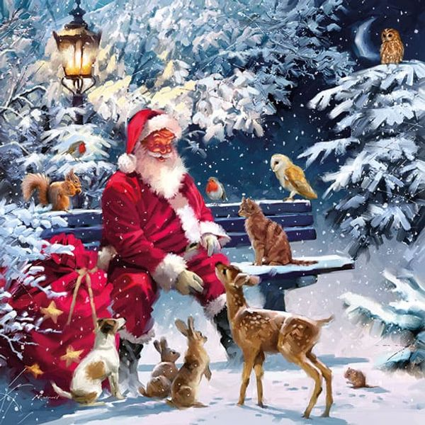 Guardanapo-de-Papel-para-Decoupage-Natal-Ambiente-Luxury-33313410-2-unidades-Papai-Noel-Sentado