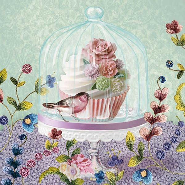 Guardanapo-Decoupage-Ambiente-Luxury-CUPCAKE-IN-GLASS-13309725-2-unidades-Cupcake