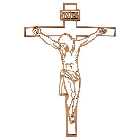 Aplique-em-MDF-Crucifixo-27x182cm---Palacio-da-Arte