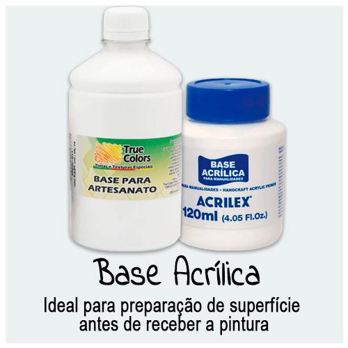Base Acrílica - Confira aqui produtos para preparação de superfície que vai receber pintura. Podem ser utilizadas em diversas superfícies e aplicadas com pincel, rolo.