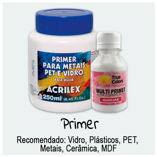 Primer - Confira aqui produtos para preparação de superfícies que iram receber tinta. Diversos modelos, marcas e tamanhos de Primer para as mais variadas superfícies.