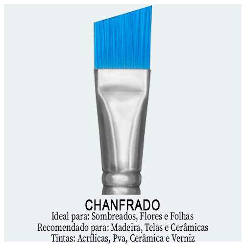 Pincel Chanfrado - Aqui você encontra pincel chanfrado de diversas marcas. Pincel com ponta inclinada ou angulada ideal para fazer sombreados, flores e folhagens.