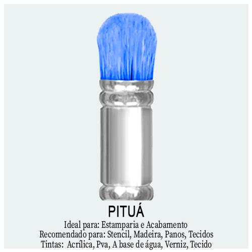 Pincel Pituá - Aqui no Palácio da Arte você encontra Pincel Pituá Arredondado e Pituá Achatado. Ideal para preencher e pintar Stencil, estamparia e acabamento.