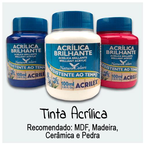 Encontre Tinta Acrílica para Artesanato com as melhores ofertas no Palácio da Arte. Para pintura em Madeira e MDF. Tinta Acrílica, Fosca, Brilhante, Metalizada e Neon.