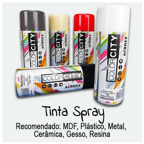 Tinta Spray - Encontre aqui grande variedade em tintas para sua Arte. Tinta Spray para Bricolagem, Artes Plásticas, Grafite e Artesanato em Geral.