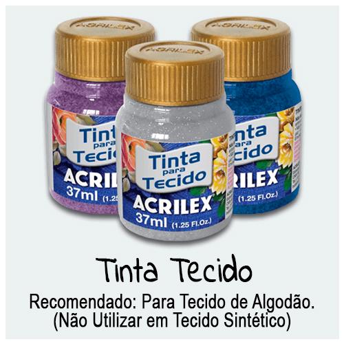 Tinta Tecido - Encontre aqui Tinta Tecido versões, fosca, metalizada, fluorescente, com glitter e muito mais. Serve para facilitar os trabalhos de pintura em tecido.