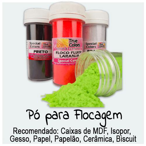 Pó para Flocagem - Encontre aqui a cor desejada de pó para flocar seus produtos. Ideal para flocagem de produtos.