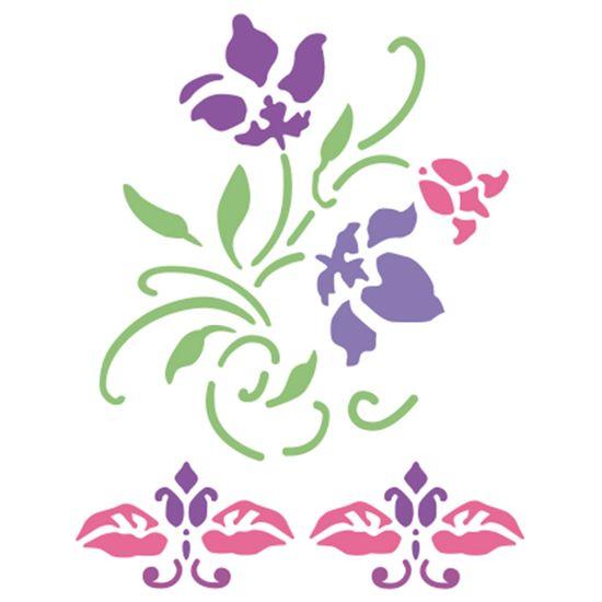 Stencil-Acrilex-21x15-1148-Tribal-Flores
