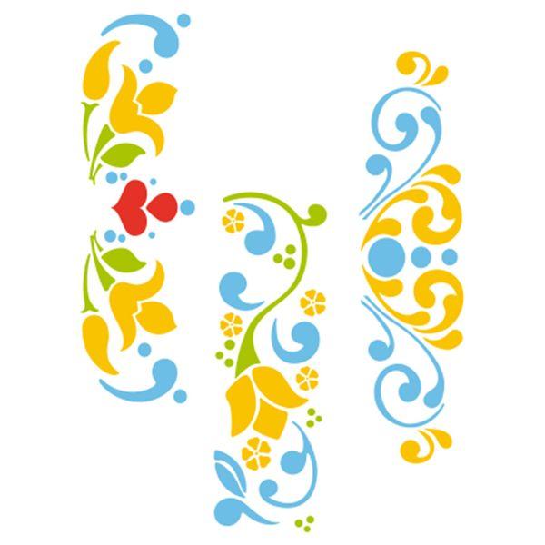 Stencil-Acrilex-21x15-1185-Tulipas-Floral