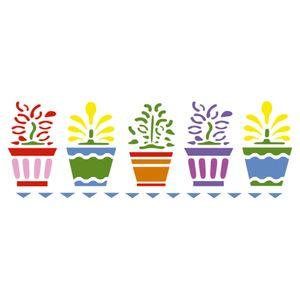Stencil-Acrilex-30x10-1170-Vasos-com-Flores