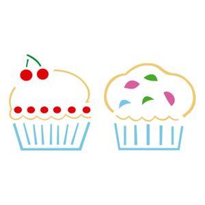Stencil-Acrilex-10x10-1226-Cupcakes