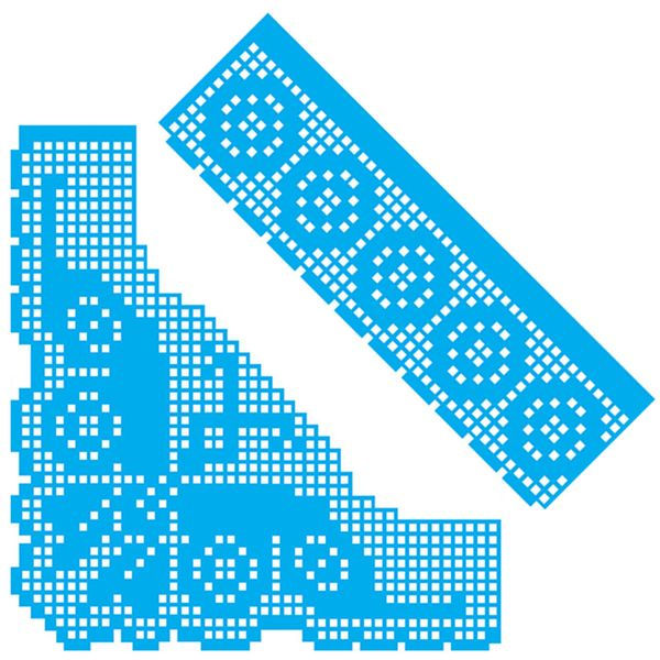 Kit-Stencil-Croche-Litocart-LSDCG-001-com-2-pecas-Borboleta