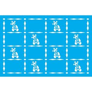 Stencil-Litocart-30x20-LSS-067-Estampa-Ursinho-Gravata