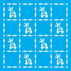 Stencil-Litocart-20x20-LSQ-185-Estamparia-Ursinho-Gravata