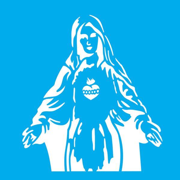 Stencil-Litocart-20x20-LSQ-191-Sagrado-Coracao-de-Maria