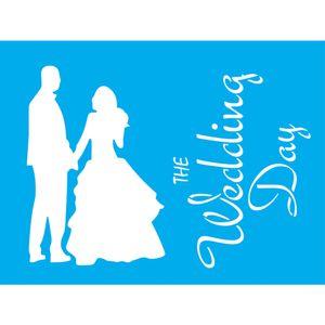 Stencil-Litocart-20x15-LSM-152-The-Wedding-Day