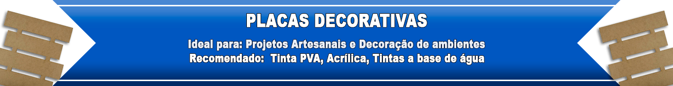 Madeira Placas Decorativas