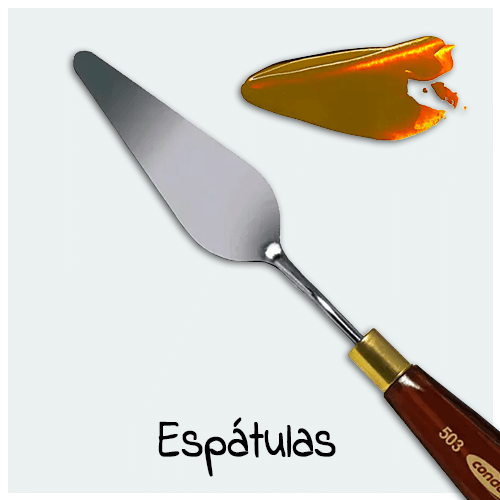 Espátula - Grande variedade de modelos de espátula para sua Arte ficar ainda mais bonita. Acessório importante para fazer diversos efeitos na pintura e textura.