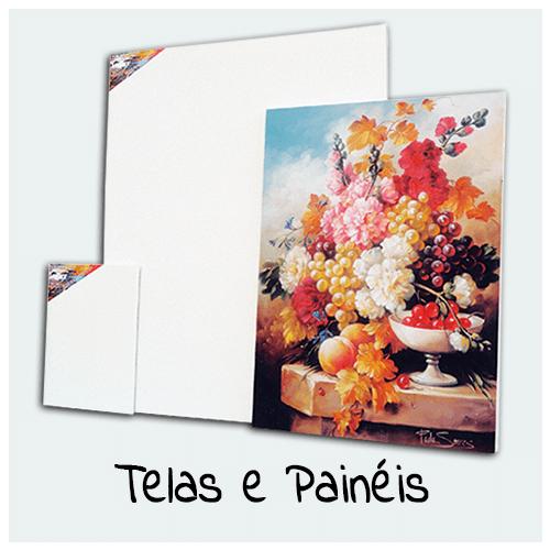 Telas e Painéis - Compre aqui Telas e Painéis para sua Arte. Existem diversos tamanhos de Telas e Painéis com ou sem acabamento na lateral.