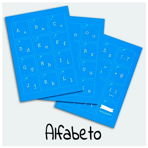 Stencil Alfabeto - Encontre aqui Stencil com letras de diferentes fontes e tamanhos para sua Arte. São ideais para personalização de objetos e trabalhos artesanais.