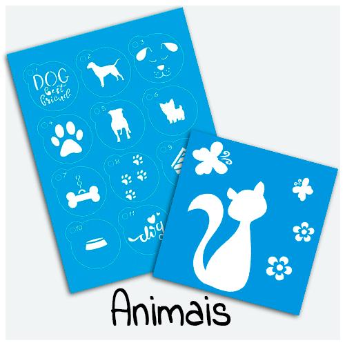 Stencil Animais - Compre Stencil de animais com os melhores preços. Estampas de Ursos, Flamingos, Borboletas, Pássaros, Corujas, Leões, Peixes, Raposas, Lhamas e etc.