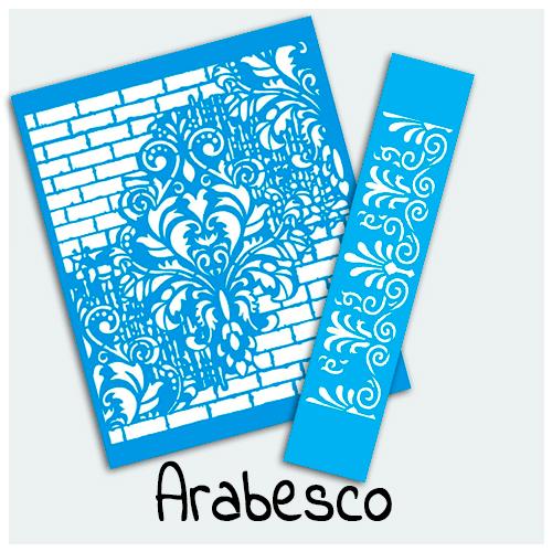 Stencil Arabescos - A Estampa de Arabescos traz sofisticação e charme para qualquer decoração e ambiente. Encontre aqui diversos modelos de Stencil Arabescos.