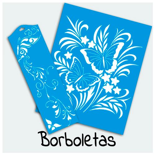 Stencil Borboleta - Entre e confira os mais belos Stencils para sua Arte. Borboletas simbolizam a transformação aproveite para decorar seus projetos artesanais com elas.
