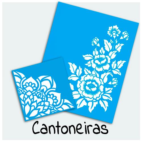 Stencil Cantoneiras - Encontre aqui Stencil mais bonito para sua Arte. São ideais para decoração de caixas de MDF, placas e Artesanato em Geral.