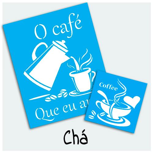 Stencil Chá - Encontre aqui estampas variadas para sua Arte. O Stencil com tema chá pode ser utilizado na decoração de muitos projetos artesanais.