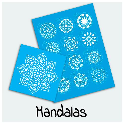 Stencil Mandalas - Vem conferir os mais bonitos Stencils. Aqui você encontra diversos modelos de Stencils Mandalas para a decoração de quadros, paredes, caixas e etc.