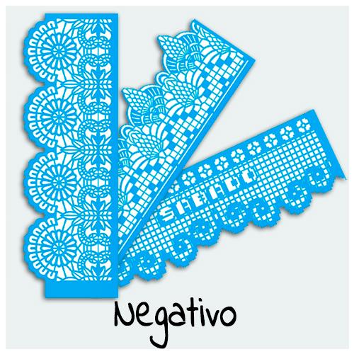 Stencil Negativo - Confira aqui os melhores stencils para sua Arte. No Stencil Negativo a imagem é preenchida externamente e a ausência da cor define a imagem.