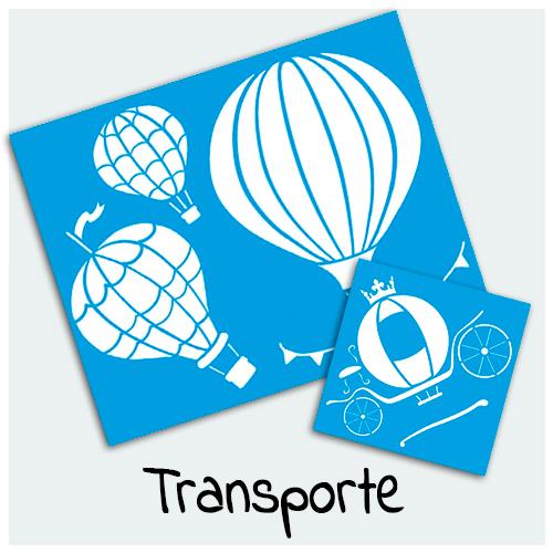 Stencil Transportes - Vem conferir Stencil com estampas de carros, motos, aviões, barcos, trens, e muito mais. Ideal para decoração dos seus projetos artesanais.