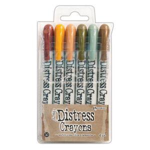 Caneta-Distress-Crayons-Giz-de-Cera-TDBK51800-SET10-com-6-Cores-Ranger