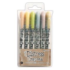 Caneta-Distress-Crayons-Giz-de-Cera-TDBK51787-SET8-com-6-Cores-Ranger