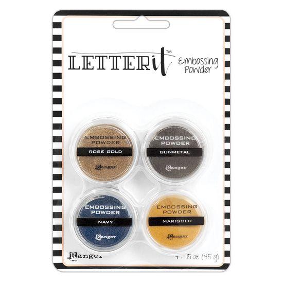 Po-para-Emboss-Metalico-Letter-It-Embossing-Powder-Metallics-LEP58816-com-4-unidades-Ranger