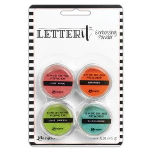 Po-para-Emboss-Brilhante-Letter-It-Embossing-Powder-Brights-LEP62912-com-4-unidades-Ranger