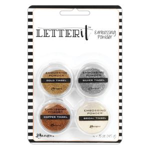Po-para-Emboss-com-Glitter-Letter-It-Embossing-Powder-Tinsels-LEP59578-com-4-unidades-Ranger