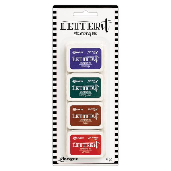 Almofada-Carimbeira-Letter-It-Stamping-Ink-LEI64206--4-com-4-Cores-Ranger