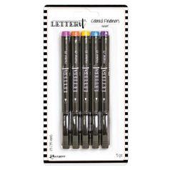 Kit-Canetas-de-Escrita-Letter-It-Colored-Fineliners-Resort-LEI65845-com-5-unidades-0.35mm-Ranger