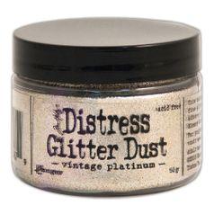 Distress-Glitter-Dust-TDR49753-50g-Vintage-Platinum-Ranger