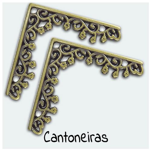 Cantoneiras - Apliques em metal cantoneira para seu Artesanato. Acessórios para decoração de caixas, quadros, placas decorativas, porta retratos e Artesanato em Geral.