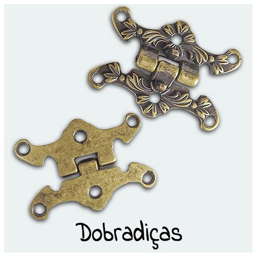 Dobradiças - Encontre aqui vários modelos de dobradiças para o seu Artesanato. As dobradiças permitem a articulação de tampas e portas de produtos artesanais.