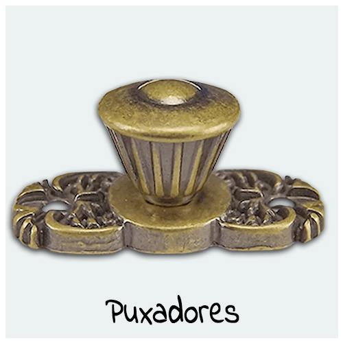 Puxadores - Confira aqui as melhores ofertas em puxadores para o seu Artesanato. Ideal para fixação em caixas, mini cômodas, gavetas e peças artesanais de madeira e MDF.