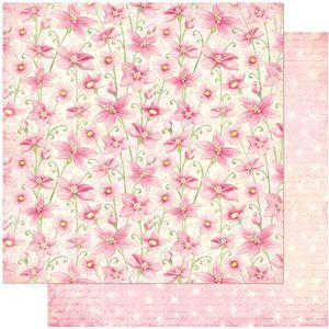 Papel-Scrapbook-Litoarte-305x305-SD-1032-Flores-Rosa