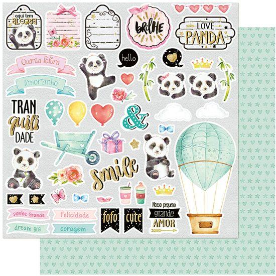Papel-Scrapbook-Litoarte-305x305-SD-1101-Panda-Bambu-e-Flores