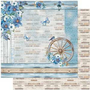 Papel-Scrapbook-Litoarte-305x305-SD-1104-Rustico-Azul-Romantico