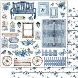 Papel-Scrapbook-Litoarte-305x305-SD-1105-Rustico-Azul-Romantico