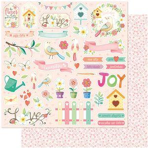 Papel-Scrapbook-Litoarte-305x305-SD-1106-Passaros-e-Flores-Love