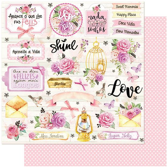 Papel-Scrapbook-Litoarte-305x305-SD-1107-Flores-Rosa-Romantico