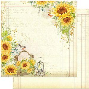 Papel-Scrapbook-Litoarte-305x305-SD-1128-Girassol-Vintage
